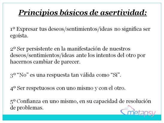 principios de asertividad